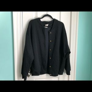 Jackets & Blazers - Soft Black Jacket with Gold Detailing